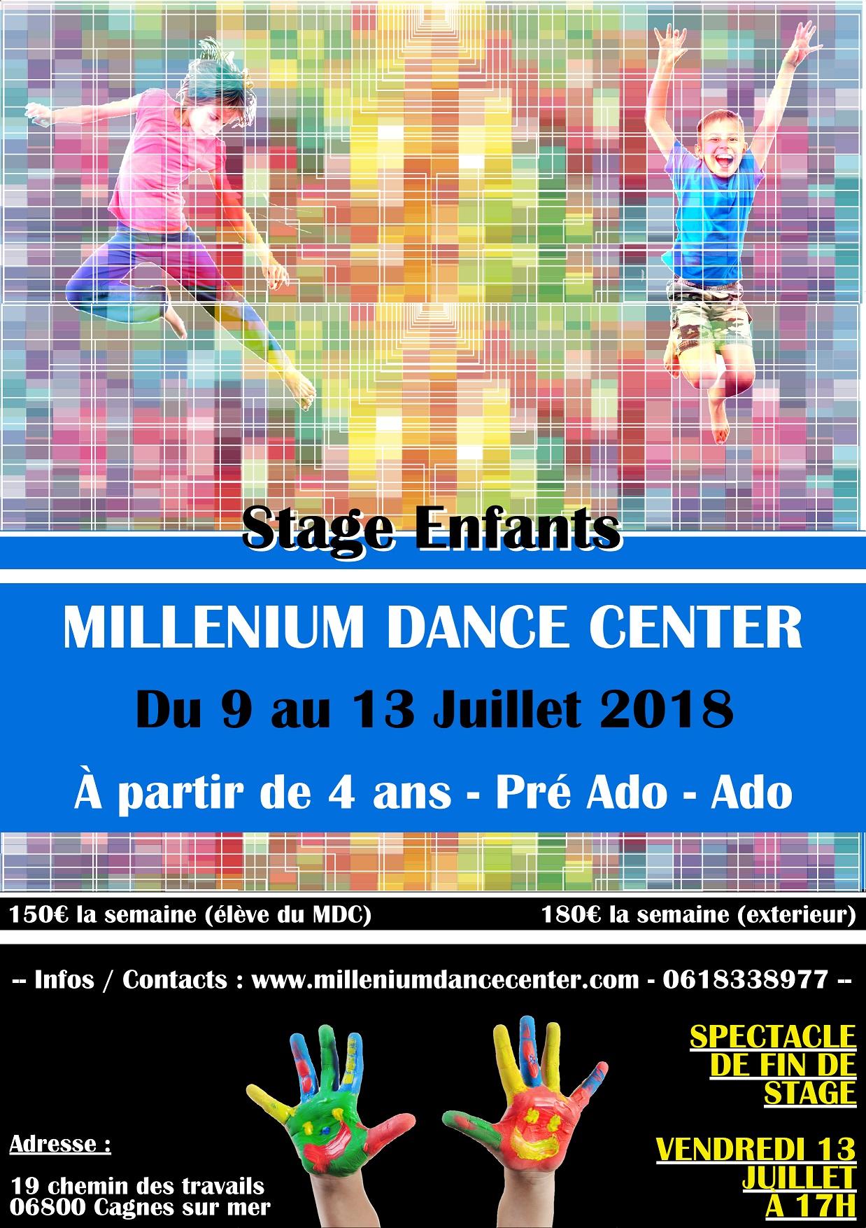 Millenium Dance Center - Stage Enfant Ete 2018